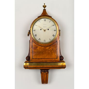 18TH CENTURY ANTIQUE GEORGE III SATINWOOD BRACKET CLOCK BY JAMES EVILL OF BATH