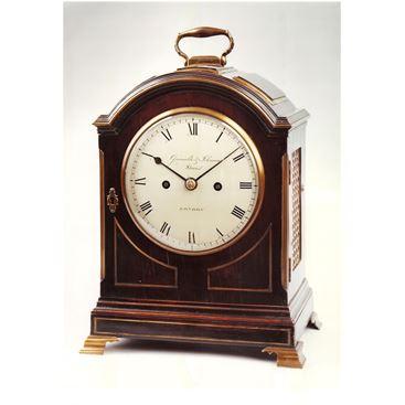 EARLY 19TH CENTURY ANTIQUE BRACKET CLOCK BY GRIMALDE & JOHNSON OF LONDON