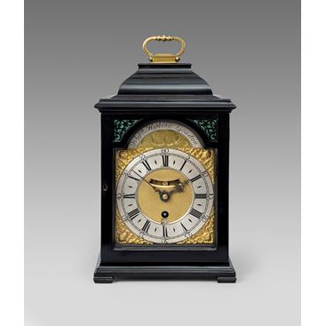 18TH CENTURY ANTIQUE EBONIZED BRACKET CLOCK BY WILLIAM KIPLING OF LONDON