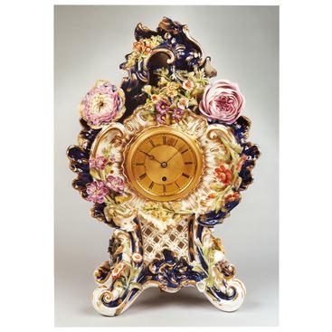VICTORIAN ANTIQUE PORCELAIN CLOCK BY ADAM THOMSON OF BOND STREET LONDON