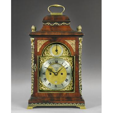 18TH CENTURY ANTIQUE MAHOGANY AND BRASS BRACKET CLOCK BY JOHN TURNER OF LONDON