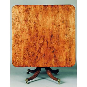 LATE 18TH CENTURY ANTIQUE GEORGE III YEW WOOD BREAKFAST TABLE