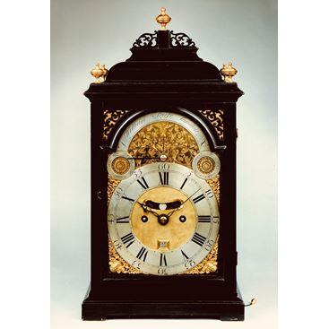 18TH CENTURY ANTIQUE GEORGIAN EBONIZED BRACKET CLOCK BY WILLIAM SCAFE OF LONDON