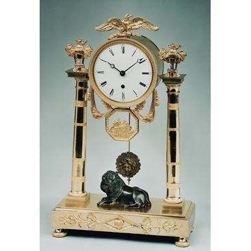 ANTIQUE REGENCY ORMOLU MANTEL CLOCK BY BAETENS OF SOHO LONDON