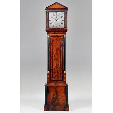 N/A19TH CENTURY ANTIQUE REGENCY MAHOGANY LONGCASE CLOCK BY JOHN BARWISE OF LONDON