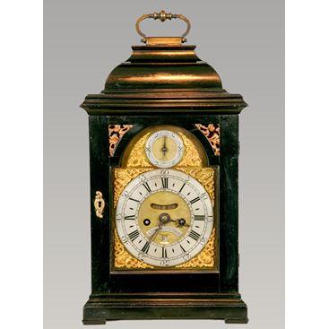 SCOTTISH ANTIQUE GEORGE II EBONY BRACKET CLOCK BY JOHN BROWN OF EDINBURGH